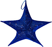 Kringle Express 25.6 Lit Outdoor/Indoor Collapsible Sparkle Star - H210170