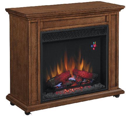 duraflame davis infrared rolling mantel fireplace heater