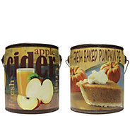 A Cheerful Giver Set of 2 Fall Farm Fresh 20-ozCandles - H289670