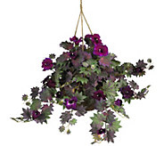 Morning Glory Hanging Basket by Nearly Natural - H292170