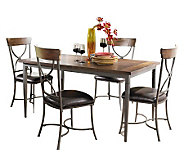 Hillsdale Cameron 5pc Rectangle Dining Set w/X-back Chairs - H358770