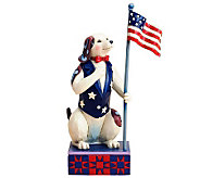 Jim Shore Heartwood Creek Patriotic Dog Figurine - H367270