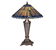 Tiffany Style 23 Peacock Cone Table Lamp - H122471