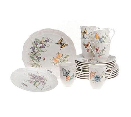 Lenox butterfly meadow 18 piece set for Table 6 lenox
