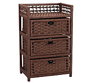 Household Essentials Paper Rope 3-Drawer Chest - H157271