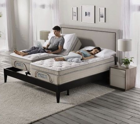 sleep number split king size premium adjustable bed set page 1 qvccom - Split King Bed Frame