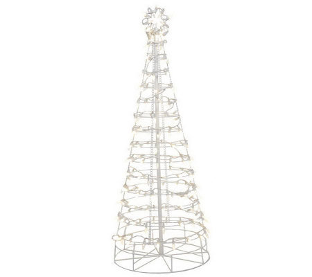 Santas Best 6 Collapsible Outdoor Pre-Lit Christmas Tree