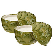 ED On Air Set of 2 Artichoke Candles by Ellen DeGeneres - H205971