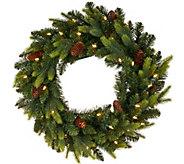 As Is Bethlehem Lights 15th Anniversary 24 Prelit Wreath - H207271