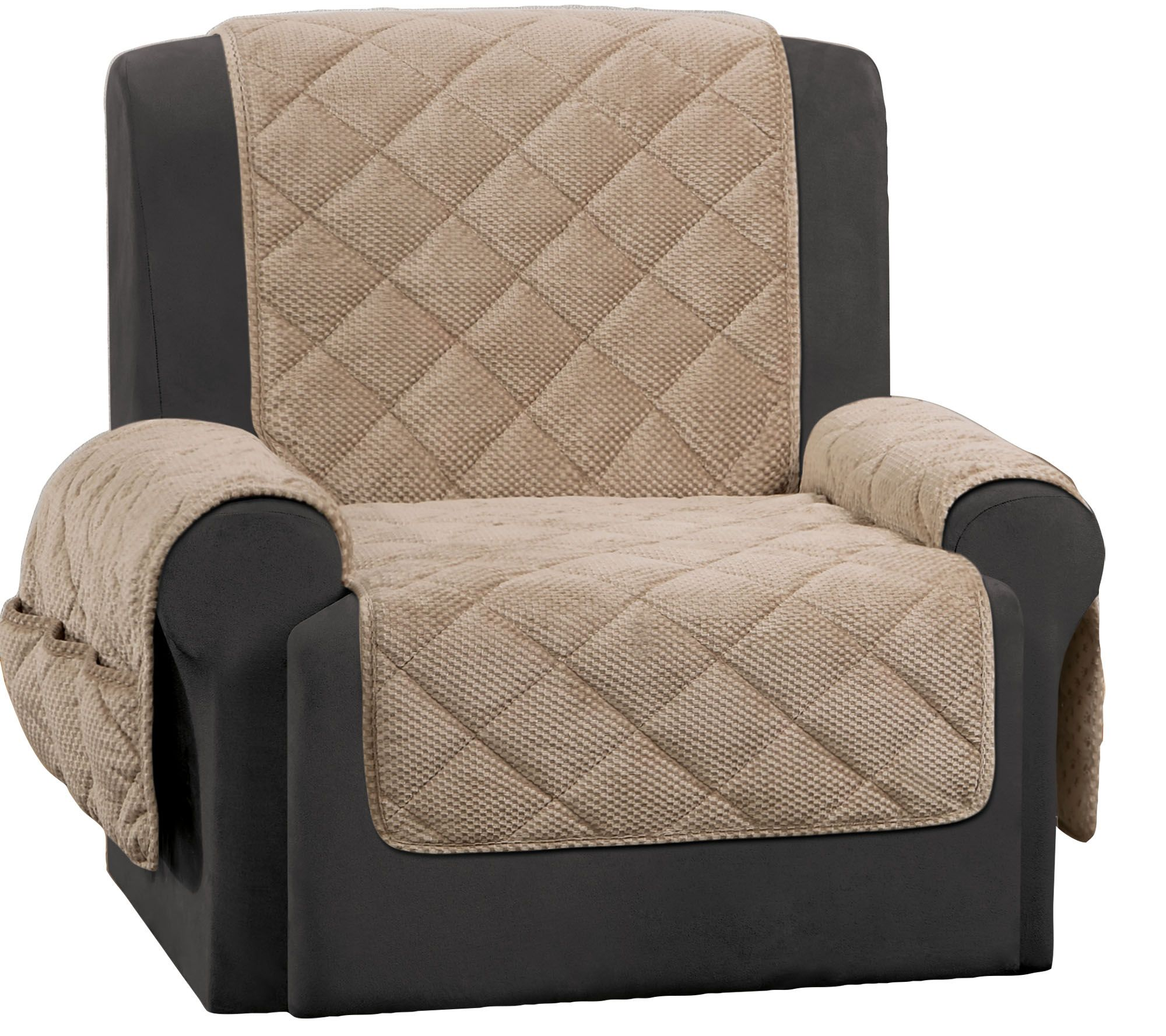 Sure Fit Recliner Furniture Cover With Textured Pique Fabric Page 1