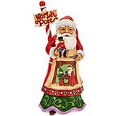 Jim Shore Heartwood Creek North Pole Santa Figurine - H209671