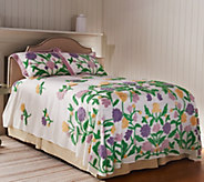 As Is Concordia Floral 100Cotton Chenille Bedspread - H210071