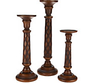 Set of 3 Graduated Wood Pedestals - H210871