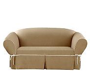 Sure Fit CVC Duck 1-Piece Sofa Slipcover - H280971