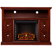 Sadler Media Console/Stand Electric Fireplace,Cherry Finish - H282471