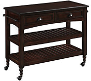 Home Styles Country Comfort Kitchen Cart withWood Top - H288171