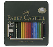 Faber-Castell Polychromos 16-Piece Colored Pencil Set with Tin - H288771