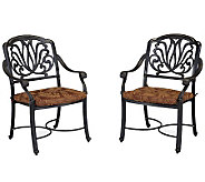 Home Styles Floral Blossom Set of Arm Chairs with Cushion - H367871