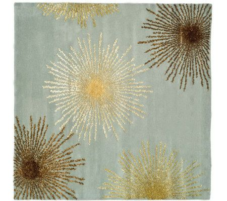 Soho 6' Square Abstract Handtufted Wool/ViscoseBlend Rug - H178572