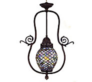 Tiffany Style 7W Fishscale Pendant Light - H181372