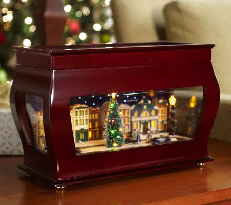 Animated Symphony Of Bells Musical Tabletop Decoration Best Mrchristmas Animated Symphony Of Bells Music Box  Page 1 — Qvc Decorating Inspiration