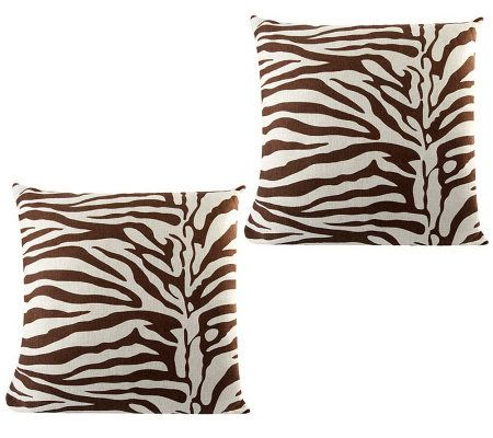 Qvc Decorative Pillows : Linda Dano Set of 2 20
