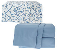 Home Reflections S/2 QN Microfiber Solid & Print Sheet Sets - H201972