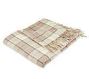 Foxford Woollen Mills 72x 58 Plaid Throw - H202072