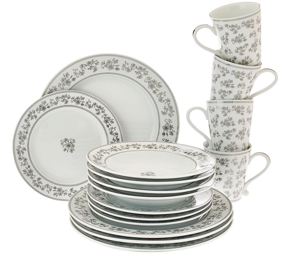 sc 1 st  QVC.com & Temp-tations Elite 16-pc. Silver Metallic Dinnerware - Page 1 \u2014 QVC.com