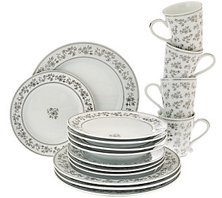 Silver Metallic Dinnerware QVC Price $88.00 Clearance Price $59.96. Available for 5 Easy Payments 4.6 of 5 Stars (18 reviews)  sc 1 st  TVShoppingQueens & QVC) Big sale on kitchen items ends tonight! - TVShoppingQueens