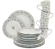 Temp-tations Elite 16-pc. Silver Metallic Dinnerware - H205072