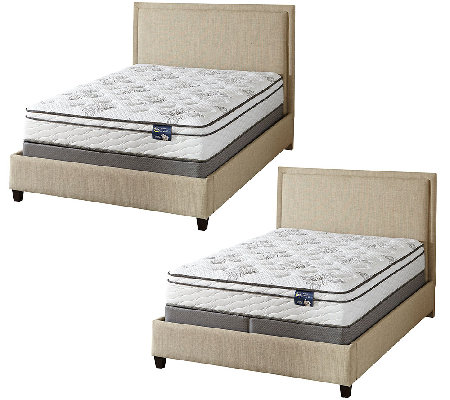 "Serta Salvation 11"" Euro Top Mattress Set H — QVC"