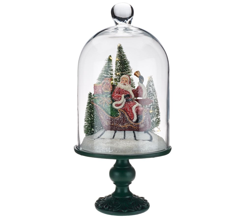 """Qvc Outdoor Wall Lights: """"As Is"""" Illuminated 13"""" Holiday Scenes Under Glass By"""