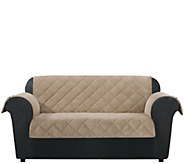 Sure Fit Loveseat Furniture Cover with Textured Pique Fabric - H209472