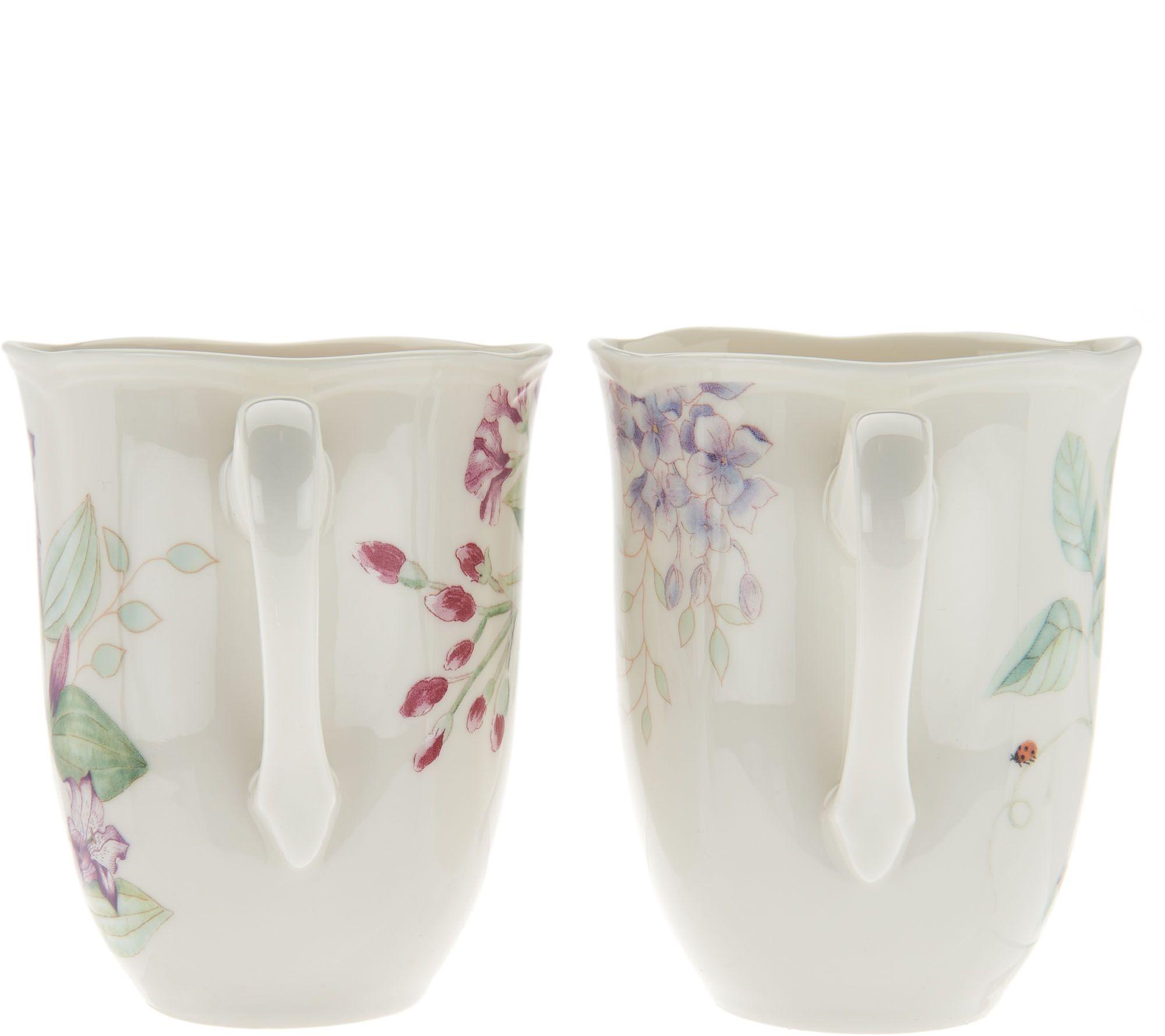 Lenox butterfly meadow set of 4 dinner mug set page 1 qvc reviewsmspy