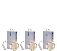 Bethlehem Lights Set of 3 6 Spring Color Fairy Micro Light Strands - H211172
