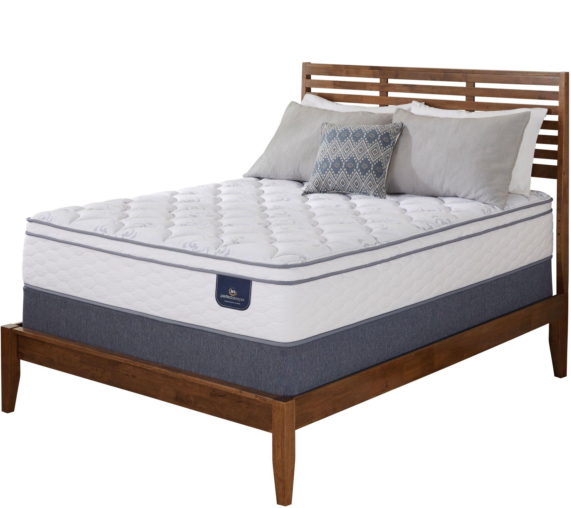 serta perfect sleeper freeport eurotop queen mattress set page 1 u2014 qvccom