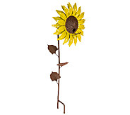 Desert Steel Sunflower Garden Stake and Bird Feeder - H284572