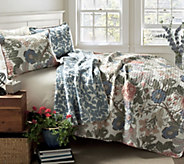 Sydney 3-Piece Floral King Quilt Set by Lush Decor - H290572
