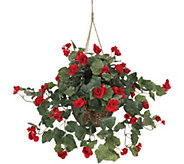 Begonia Hanging Basket by Nearly Natural - H292172