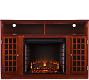 Bergen Media Console Electric Fireplace - Mahogany Finish - H354672