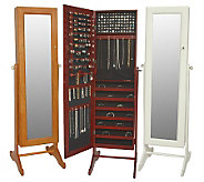 As Is Gold & Silver Safekeeper Mirrored Jewelry Cabinet - H99372