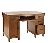 Mission Style Desk in Brown Mahogany - H160973
