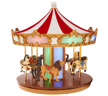 Mr. Christmas Carousel with Lights - H203573 — QVC.com
