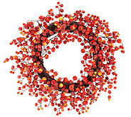 24 Autumn Berry Wreath by Valerie - H203773