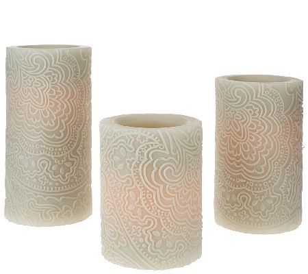 Set of 3 Candle Impressions Indochine Flameless Candles - H205273