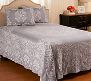 Medallion Jacquard 100Cotton KG Bedspread with Shams - H207673