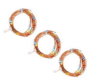 As Is ED On Air Set of 3 Micro Light Strands by Ellen DeGeneres - H208373