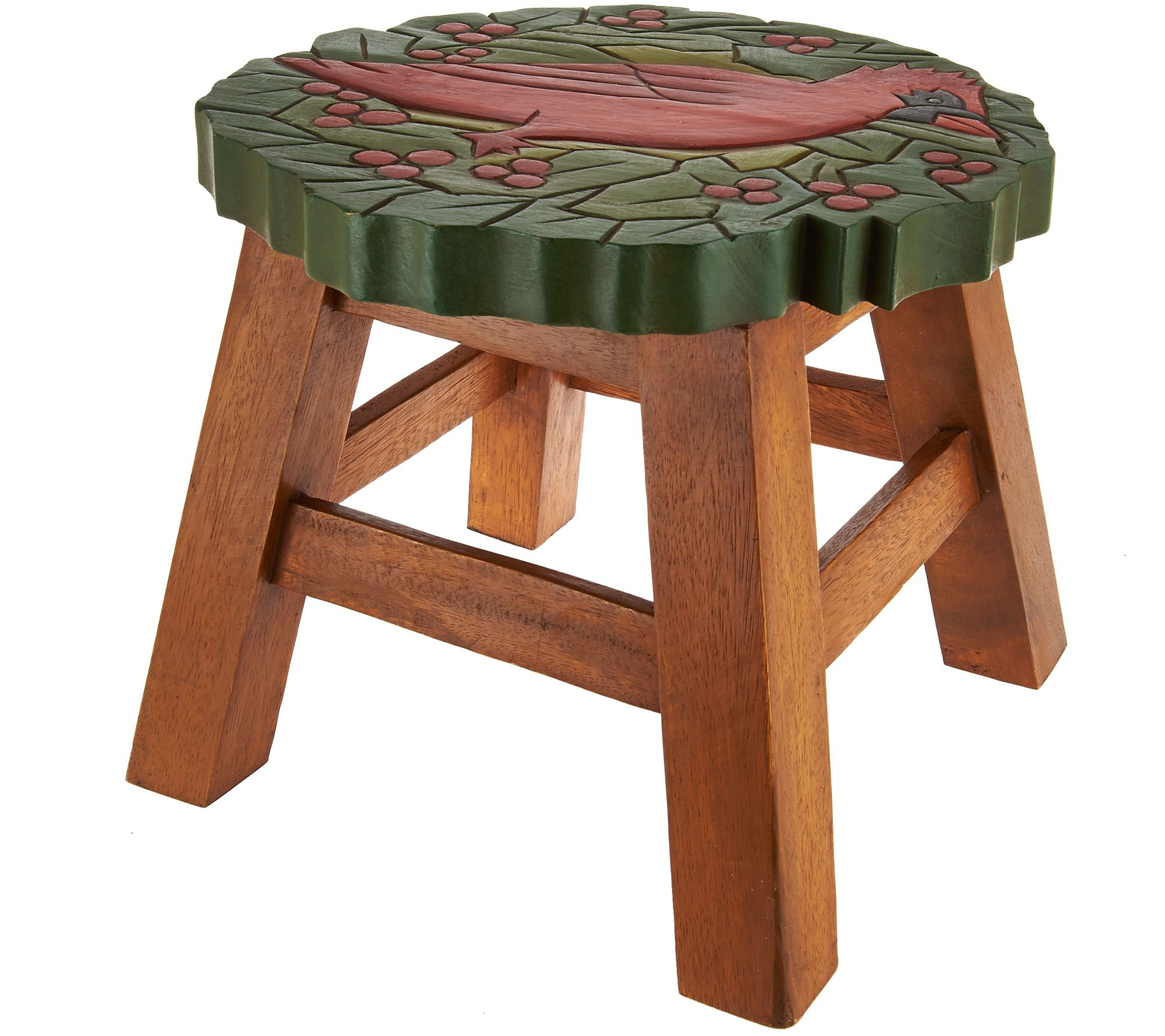 Plow And Hearth Wooden Carved Holiday Stool   H208473 Part 57