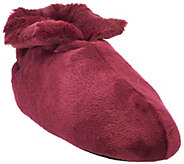 As Is Dennis Basso Signature Faux Fur Slipper Booties - H208573
